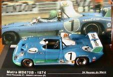 MATRA SIMCA MS670B  #7 1974 24 HEURES DU MANS IXO 1/43 ALTAYA PESCAROLO
