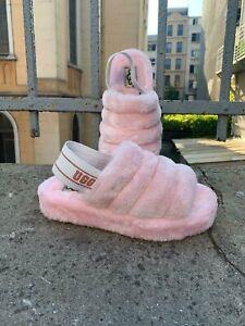 UGG Australia Fluff Yeah Slides Women's Slippers US7 Pink