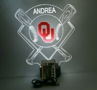 Oklahoma Sooners Baseball Stadium LED Sport Fan Light Lamp Personalized & Remote