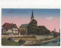 Klagenfurt Lendhafen Mit Evangelischer Kirche Austria Vintage Postcard 879a
