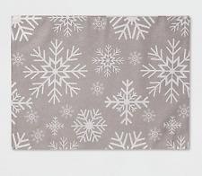 "19""x14"" Snowflake Placemat Silver"