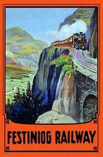 Vintage Festiniog Railway North Wales Poster A3 Print