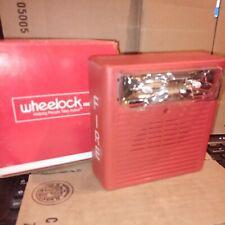 Wheelock As 24mcw Fr Red Fire Alarm Audible Strobe129024 Nib