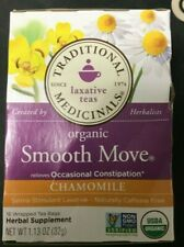Traditional Medicinals Organic Smooth Move Chamomile 16 Bags EXP 4/22 - 3 Pack