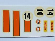 Calcas Porsche 917 nº 14, Exin, Scalextric, Triang, Avant Slot Barniz original
