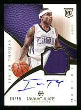 ISAIAH THOMAS 2012-13 Immaculate 2 Color RC Rookie Patch Auto #9/99