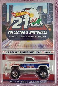 Hot Wheels 21st Nationals Convention 1983 CHEVY SILVERADO 4X4#2535/5500