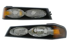 fit 2004-2012 Chevrolet Colorado Bumper Signal Lights Black DEPO