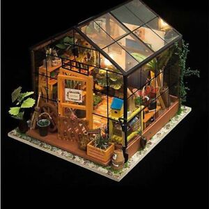 3D House LED Model Kit-DIY Greenhouse Light Doll House Build  Gift Miniature HOT