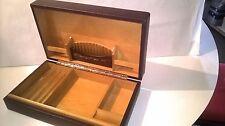 COFFRET A CIGARES / CIGARETTES, CUIR DE LUXE, BOIS DE CEDRE, MADE IN SPAIN