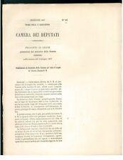 CAMERA DEPUTATI 1867 STABILIMENTO DOTAZIONE REGNO VITTORIO EMANUELE II SAVOIA