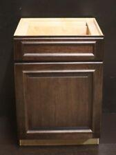 "Kraftmad Peppercorn Suede Cherry Kitchen Or Bathroom Vanity Sink Cabinet 24"""