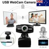 HD Webcam Camera 360 USB2.0 Video Web Cam With Mic For Computer PC Laptop Office