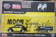 M2 Machines Exclusive 1953 VW Beetle Deluxe & Trailer Mooneyes