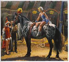 Circus rider Elsie on Hansen, Laura Knight print in 10 x 12 inch mount