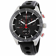 Tissot PRS 516 T1004171605100 Chronograph Black Leather 42mm Swiss Mens Watch