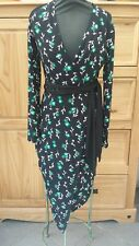 Marks And Spencer size 8 wrap Feel Dress With Belt Floral print vgc