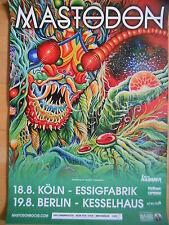 MASTODON 2015 TOUR  -  orig.Concert Konzert Poster Plakat NEU