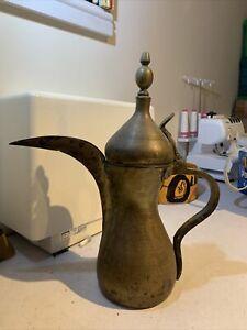 An Islamic Arabic Antique Coffee Pot Dallah 38cm High