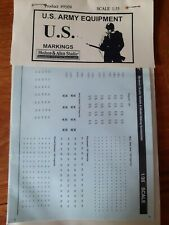 Markings for USArmy Equipments WWII
