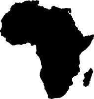 2x Auto Aufkleber Afrika AFRICA 11x10 cm konturg. 2x Decal Sticker die-cut!