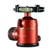 Photoclam Ballhead Pro Gold I Easy QR Q.R RED Camera Photo Clam Ball head NEW