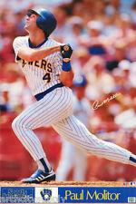 POSTER :MLB BASEBALL: PAUL MOLITOR - MILWAUKEE BREWERS - FREE SHIP #7546  RW2 P