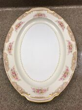 "Noritake Morimura 17""  Serving Meat Platter Gold trim handles Occupied Japan"