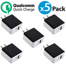 5x USB Wall Charger QualComm QC3.0 Quick Charger For iPhone X Samsung Galaxy S9+