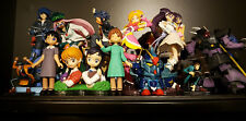 Various Unknown Japan Anime Figures Sexy Girls, Gundam, Lupin  Lot Of 15 + Base