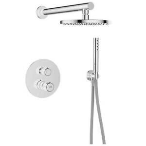 Duscharmatur Duschset mit Handbrause Unterputz Regendusche Chrom