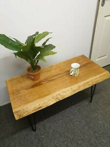 HANDCRAFTED LIVE EDGE AMERICAN CHERRY COFFEE / SIDE TABLE