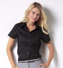Kustom Kit Ladies Short Sleeve Corporate Pocket Oxford Shirt Office Wear (KK719)