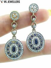 925 STERLING SILVER JEWELRY TURKISH OTTOMAN HANDMADE ONYX TOPAZ EARRINGS E2663