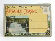 Ausable Chasm New York Rainbow Falls Souvenir Folder Unposted Post Card H794