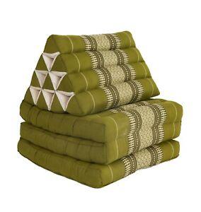 Thai Three Fold Triangular Cushion - Green Diamond (DM17)