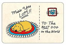 Miss You - Edible Rawhide Card -  Dogs - NIP