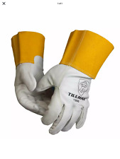 Tillman 1350 Unlined Top Grain Cowhide Mig Welding Gloves 4 Cuff Large
