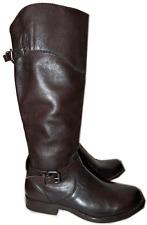 $457 Frye DORADO Boot Riding Tall Flat  Equestrian Buckles Zipper Bootie 6 Brown