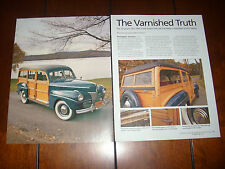 1941 FORD SUPER DELUXE WOODY WAGON - ORIGINAL 2009 ARTICLE