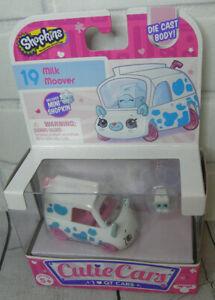 New Shopkins #19 Milk Moover Die Cast Cutie Cars W/ Mini character