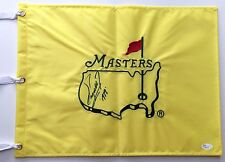 FUZZY ZOELLER Signed Autographed Undated Masters Pin Flag w/ Year won Insc, JSA