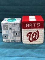 Handmade Needlepoint Plastic Canvas Tissue Box Cover Washington Nationals MLB