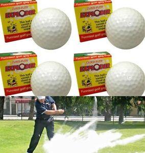 (4) Exploding Golf Balls ~ Explodes into Cloud Smoke ~  Gag Prank Joke Trick