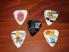 "5 Collectable ""The Simpsons"" Guitar Picks Pack by Washburn-5 PIcks"