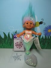 """AQUA HANGING MERMAID WITH HANG TAG - 9"""" Russ Troll Doll - NEW WITH FLAW"""