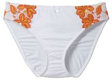 Mutandine Tgl 36/38 ecrù Arancione Slip donna Basic-Panty Francese Hipster Nuovo