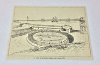 1884 magazine engraving ~ VIEW OF BOWLING GREEN, 1783, New York