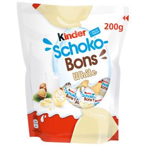 Kinder Schoko Bons White - Bag Of 200g - Ferrero 2021 Limited Edition