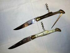 2 Anciens Couteaux: LAGUIOLE Prestige 3 pièces/LAGUIOLE Extra G.David 2 pièces